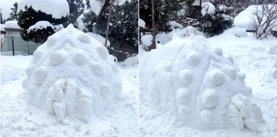 ナウシカ王蟲オームの雪ダルマ