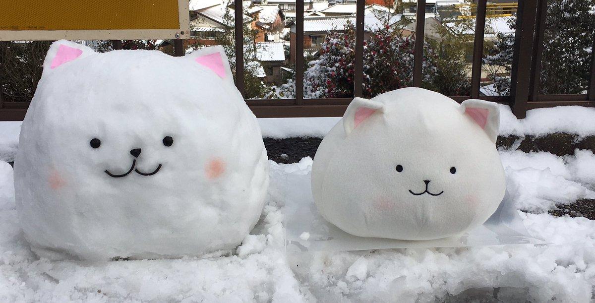 ごちうさのティッピーの雪ダルマ