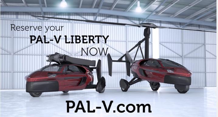 空飛ぶ車 空飛ぶ自動車 オランダ リバティーパイオニア
