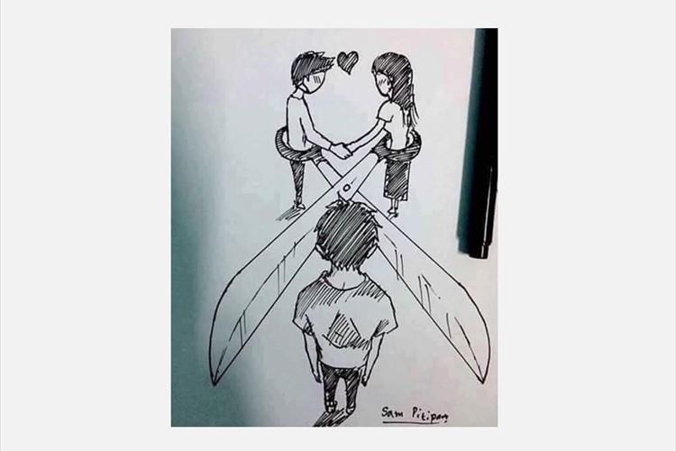 片思い 表現 恋愛関係 絵画