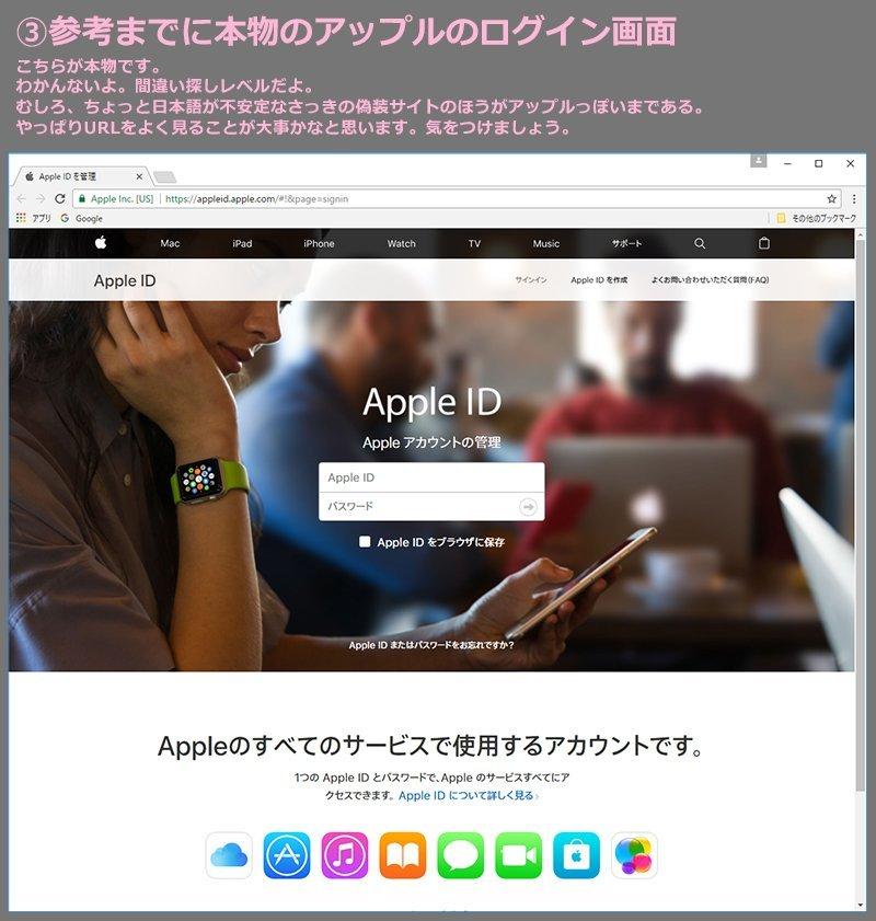 Apple 偽装 詐欺メール