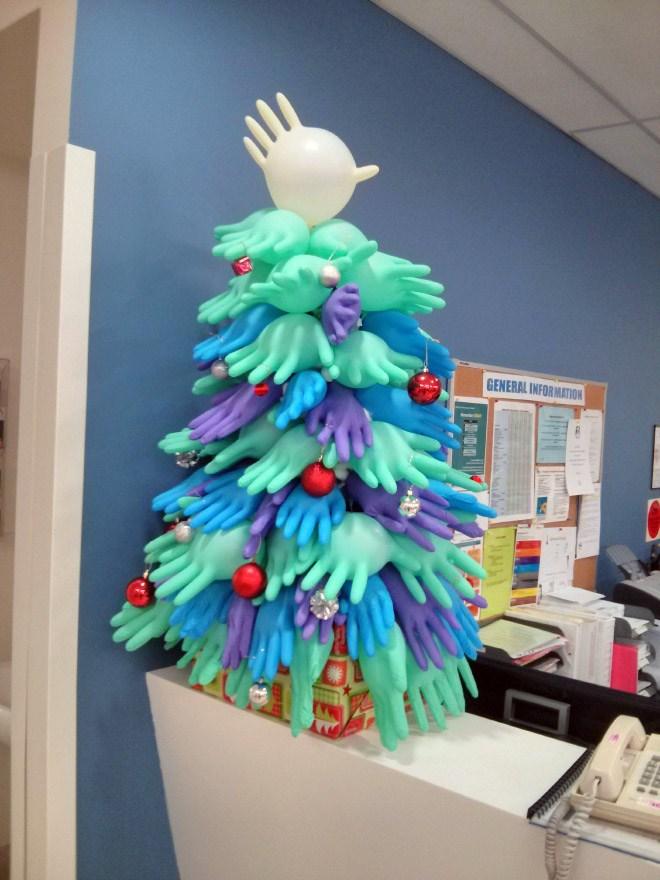 病院 入院病棟 クリスマスデコレーション ナース