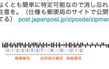 郵便物のカスタマバーコードは住所表示番号なので特定可能