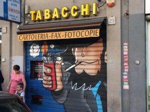 イタリアのタバコ屋でルパン三世の次元大介のストリートアートが流行中!