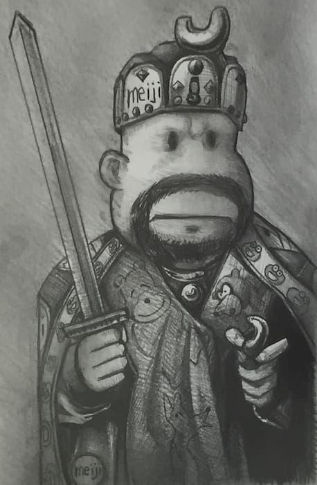 【まるでカノッサの屈辱】『おやつのカール大帝』と歴史上の出来事なぞらえて解釈するネタが話題に!