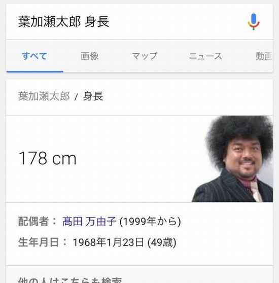 葉加瀬太郎 グーグル google パパイヤ鈴木