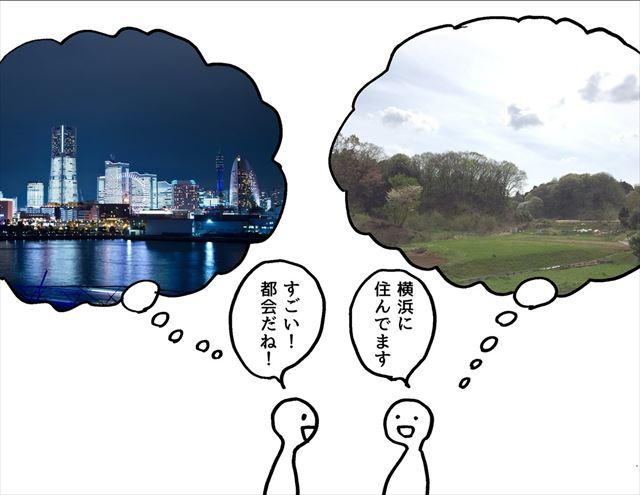 横浜 他県 ギャップ