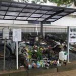 福島県の双葉警察署に展示されたパトカー・・・震災で多くの人を助けた警官たちの記憶を今に伝える