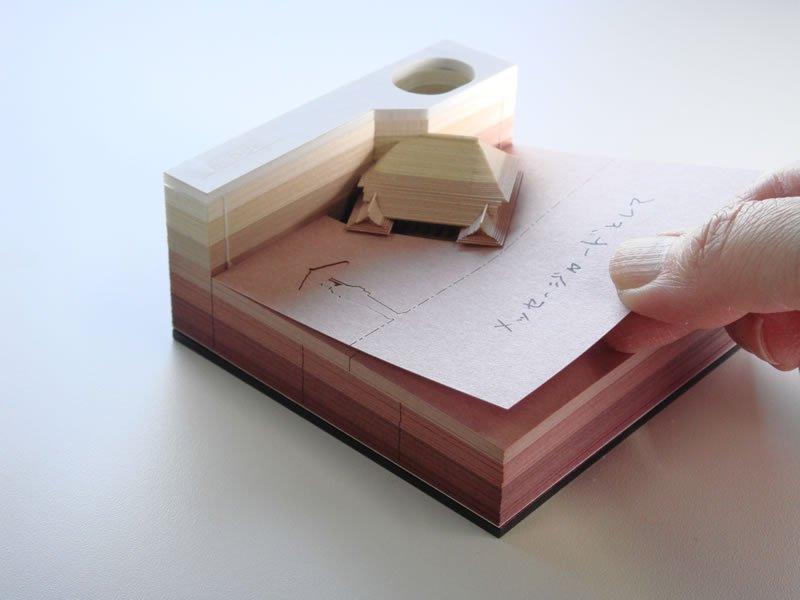 メモ書きすればするほどお城になっていくメモ帳「OMOSHIROI BLOCK」が凄いと話題に