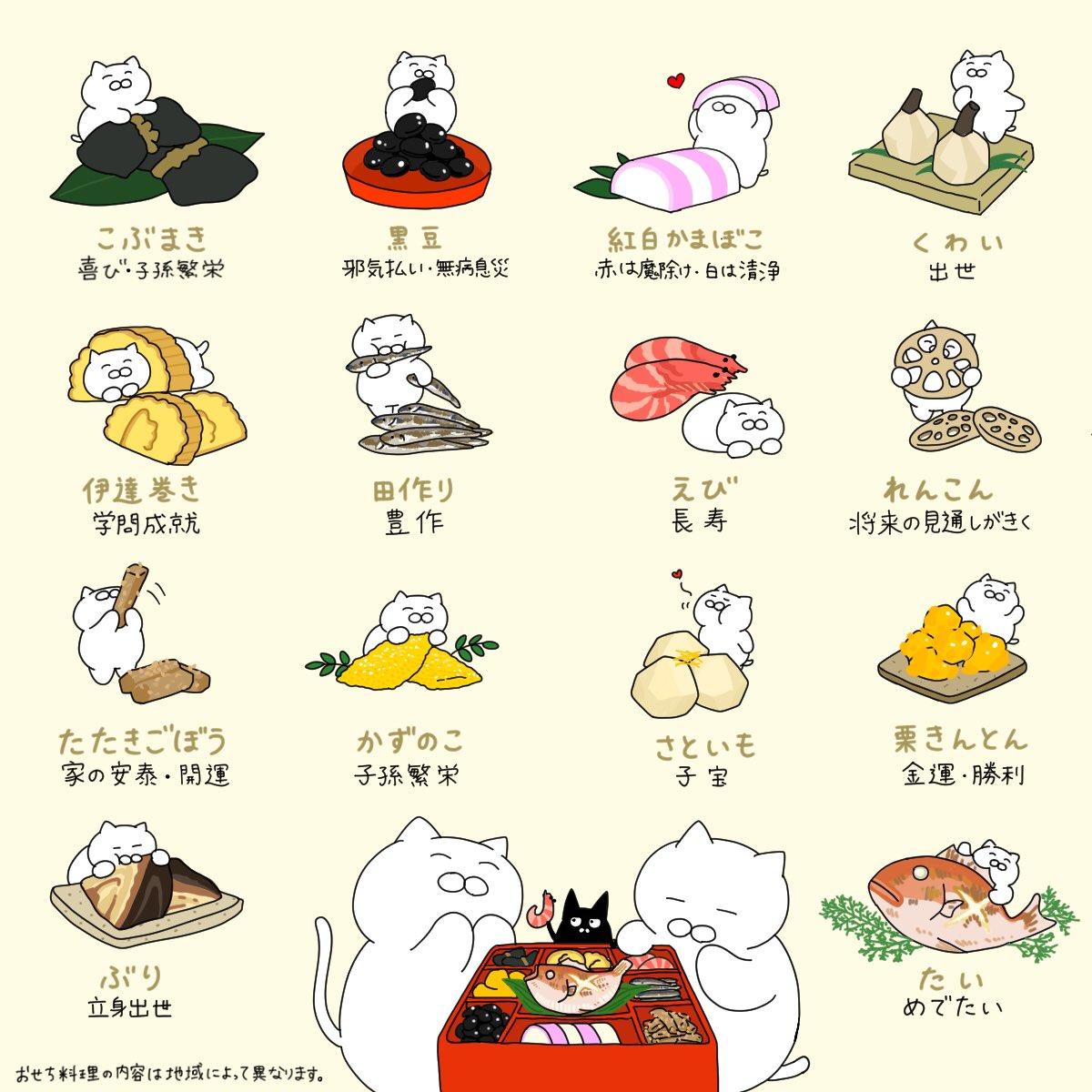 【意識して食べると一味違う!】おせち(御節)料理には縁起の良い食べ物がたくさん入っています。