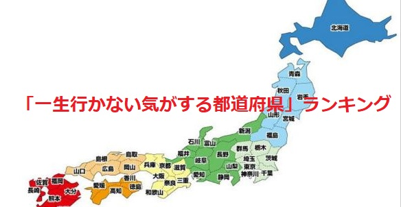 【1位は意外にも・・・】「一生行かない気がする都道府県」ランキングが話題に!