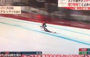【平昌オリンピック】スキーのスーパー大回転で借り物のスキー板で滑走したスノーボードの選手が優勝するという珍事が!