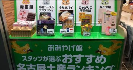 【1位はなぜか・・・】名古屋のおみやげ屋が選んだ名古屋土産物ランキングが何かと話題に!