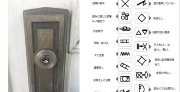 【注意喚起】家の玄関や表札などにマーキングされた不審なXマークに気をつけて!泥棒に入られる可能性有!