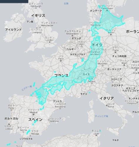 【全部メルカトル図法のせい!】日本の国土の大きさをヨーロッパ大陸と比較した1枚の画像が話題に!