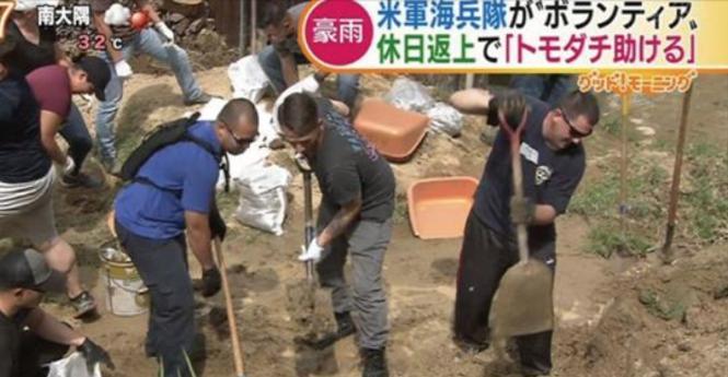 【西日本豪雨】米軍の海兵隊員が休日返上で被災地をボランティア支援をしてくれている!