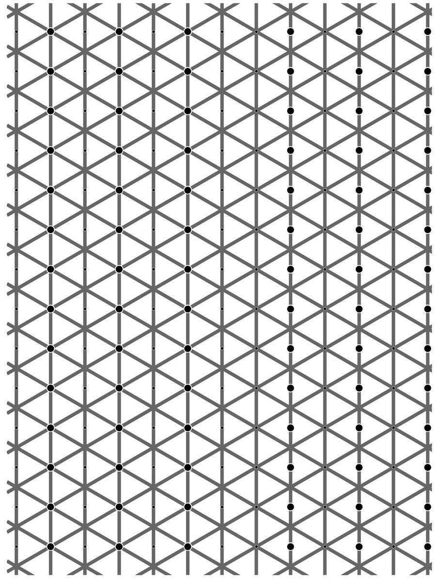 【錯視】左右対称に黒い点がありますが両方見えましたか?【目の錯覚】