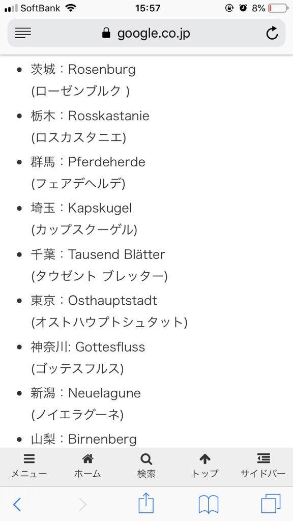 都道府県の名前をドイツ語にしてみた