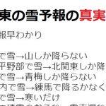 【雪予報早わかり】関東での降雪予想をわかりやすく変換すると・・・ネットの声「超わかりやすい!」
