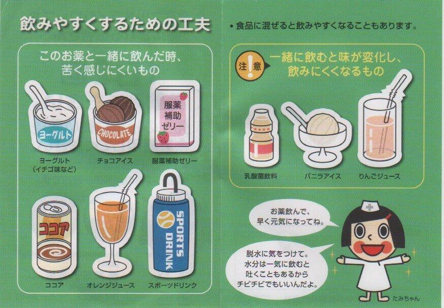 タミフルドライシロップを苦くなく飲みやすくする方法