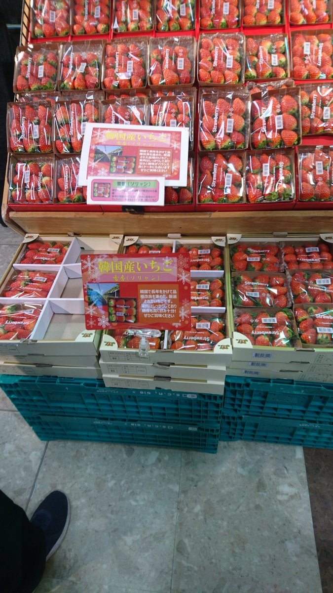 韓国が日本から盗んだ韓国産いちご「雪香」をイオンが逆輸入!