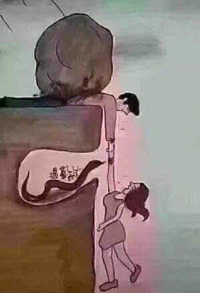 お互いに、自分にはわからない事情があることを推し量ることは大事という風刺画が話題に!