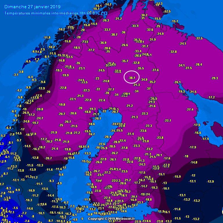 一方のフィンランド先輩は先月-38.7°Cという魔界を作りだしていた