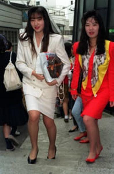 バブル時代の渋谷のOLファッション