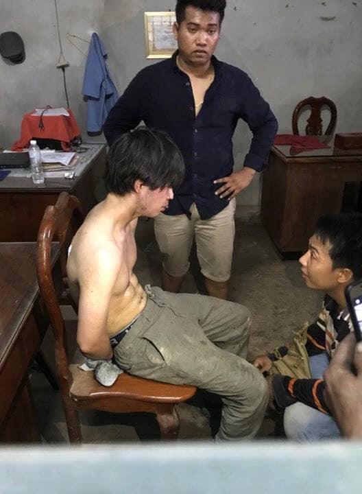 カンボジア人タクシー運転手殺害後に尋問される石田礼門と中茎竜二
