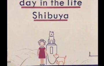 渋谷の宮下公園の工事中のシャッターの絵「A day in the life shibuya」が感動的だと話題に『たくさんの人たちがこの街をつくってる』
