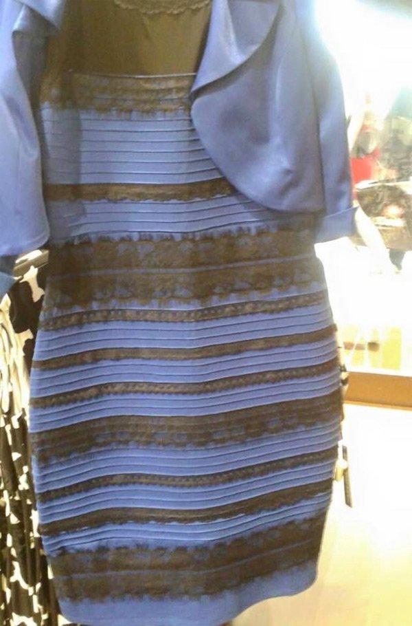 このドレス何色と何色に見えますか?