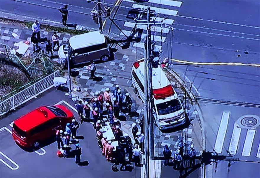 大津市保育園児2名死亡の衝突事故の現場の写真