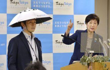 小池知事が東京五輪の暑さ対策に「かぶる傘」を試作→ネットの反応「センスがない」www