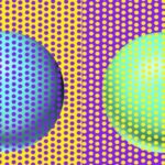 【あなたはどう見えた?】青に見える球体と緑に見える球体は全く同じです。