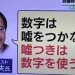 「数字は嘘をつかないが嘘つきは数字を使う」という政治アナリストの伊藤惇夫さんの名言に反響多数!