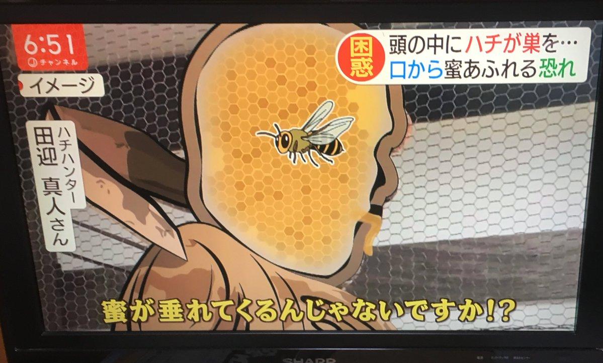 お寺の仁王像の頭の中にハチが巣を作って蜜が口から溢れ出そうに・・・これに対して住職の対応が素晴らしいと話題に!