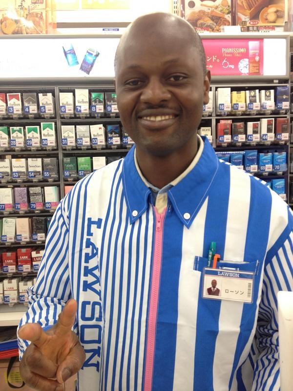 ローソンの店員の名前が「ローソン」という名前の黒人だった件www