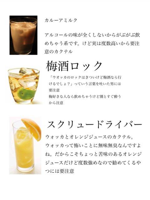【注意喚起】酔い潰すのが目的「これを勧めてくる男は信用してはいけない。」お酒です。