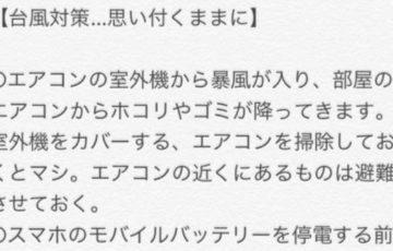 沖縄出身者が解説する台風に対する備えや正しい対策がわかりやすいと話題に!