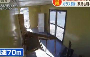 台風19号で予測される風速70mってこれくらいの強さ!破壊力を検証した動画が話題に!