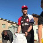台風19号の影響で、試合が中止になったラグビー・カナダ代表がそのまま釜石の町に残り、ボランティア活動!