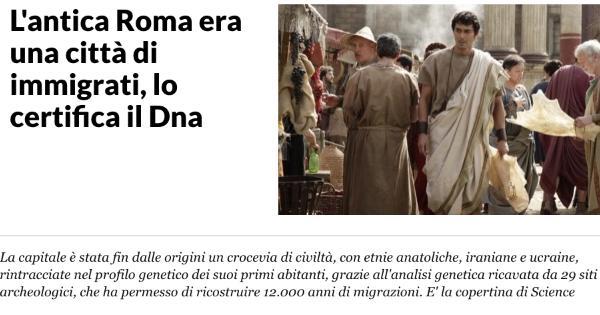 なぜか『テルマエ・ロマエ』の阿部寛の画像がイタリアのニュース記事「古代ローマは移民都市だったったことがDNA解析で証明」で使われるwww