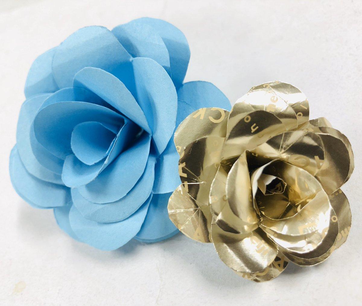 【コピー用紙でOK!】紙を使ったバラ(薔薇の花)の簡単な作り方が話題に!【ペーパークラフト】