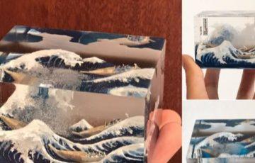 葛飾北斎の浮世絵「富嶽三十六景 神奈川沖浪裏」を立体化してみた。ネットの反応「商品化してほしい」