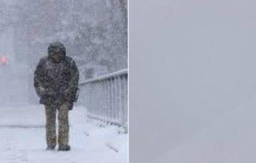 左:関東の人のいう吹雪 右:北海道の人のいう吹雪