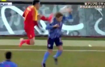 少林サッカーの中国人選手「むしろ橋岡が頭をぶつけてきた!」と主張し炎上!