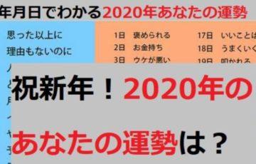 【あなたは何位だった?】2020年の運勢ランキングが早くも登場!