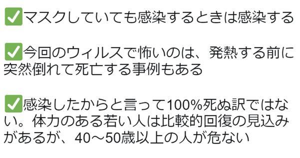 武漢の居住者による新型コロナウイルス肺炎の最新情報