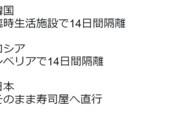 ダイヤモンドプリンセス号から下船する乗客の取り扱いが日本と各国で全く違ってると話題に!