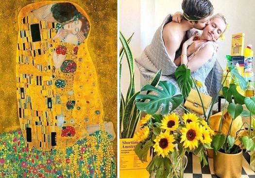美術館が芸術愛好家に「自宅からお気に入りの作品を再現した写真を投稿して!」と呼びかけた結果、まさかの傑作が誕生!